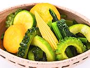 夏野菜のシャキシャキサラダ